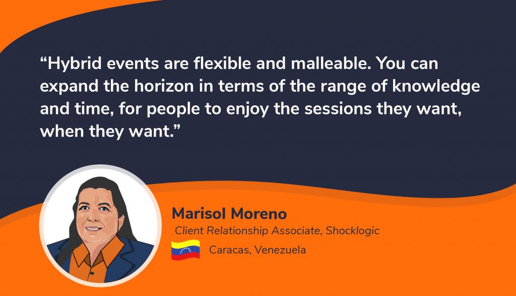 virtual hybrid events twitter Marisol Moreno 1